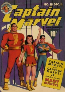 Vintage Captain Marvel Comic Book